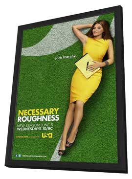 Necessary Roughness (TV) - 11 x 17 TV Poster - Style A - in Deluxe Wood Frame