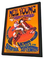 Neil Young and Crazy Horse - 11 x 17 Music Poster - Style A - in Deluxe Wood Frame