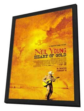 Neil Young: Heart of Gold - 27 x 40 Movie Poster - Style A - in Deluxe Wood Frame