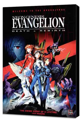 Neon Genesis Evangelion: Death & Rebirth - 27 x 40 Movie Poster - Style A - Museum Wrapped Canvas