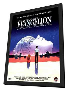 Neon Genesis Evangelion: The End of Evangelion - 11 x 17 Movie Poster - Style A - in Deluxe Wood Frame