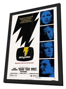 Network - 27 x 40 Movie Poster - Style A - in Deluxe Wood Frame