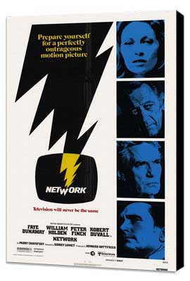 Network - 27 x 40 Movie Poster - Style A - Museum Wrapped Canvas