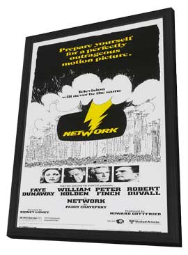 Network - 11 x 17 Movie Poster - Style G - in Deluxe Wood Frame
