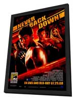 Never Back Down - 11 x 17 Movie Poster - Style B - in Deluxe Wood Frame