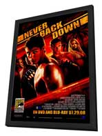 Never Back Down - 27 x 40 Movie Poster - Style B - in Deluxe Wood Frame