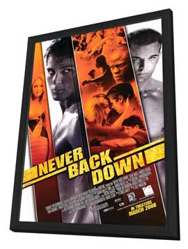 Never Back Down - 27 x 40 Movie Poster - Style A - in Deluxe Wood Frame