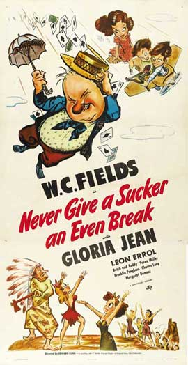 Never Give a Sucker an Even Break - 27 x 40 Movie Poster - Style A