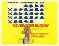 Never on Sunday - 11 x 17 Movie Poster - Style A