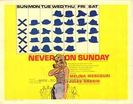 Never on Sunday - 11 x 14 Movie Poster - Style E