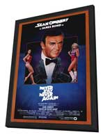 Never Say Never Again - 27 x 40 Movie Poster - Style B - in Deluxe Wood Frame