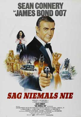 Never Say Never Again - 27 x 40 Movie Poster - German Style A