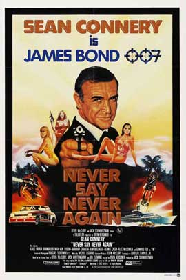 Never Say Never Again - 27 x 40 Movie Poster - Australian Style A