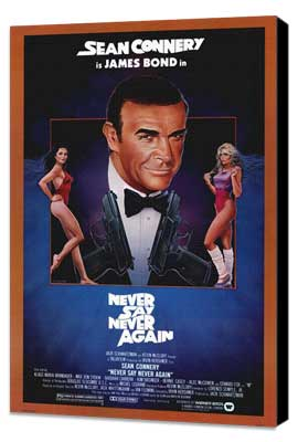 Never Say Never Again - 27 x 40 Movie Poster - Style B - Museum Wrapped Canvas