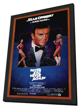 Never Say Never Again - 11 x 17 Movie Poster - Style A - in Deluxe Wood Frame