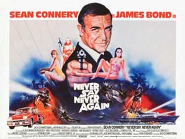 Never Say Never Again - 30 x 40 Movie Poster UK - Style A