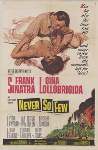 Never So Few - 43 x 62 Movie Poster - Bus Shelter Style A