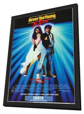 Never Too Young to Die - 11 x 17 Movie Poster - Style A - in Deluxe Wood Frame