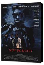 New Jack City - 11 x 17 Movie Poster - Style A - Museum Wrapped Canvas
