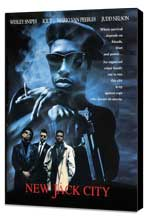New Jack City - 11 x 17 Movie Poster - Style C - Museum Wrapped Canvas