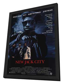 New Jack City - 11 x 17 Movie Poster - Style A - in Deluxe Wood Frame