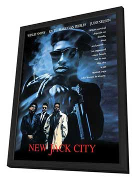 New Jack City - 11 x 17 Movie Poster - Style C - in Deluxe Wood Frame