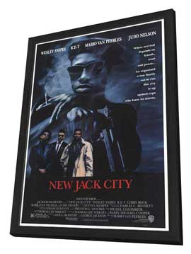 New Jack City - 27 x 40 Movie Poster - Style A - in Deluxe Wood Frame