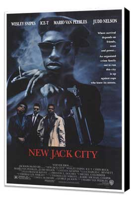 New Jack City - 27 x 40 Movie Poster - Style A - Museum Wrapped Canvas
