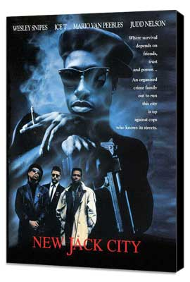 New Jack City - 27 x 40 Movie Poster - Style B - Museum Wrapped Canvas