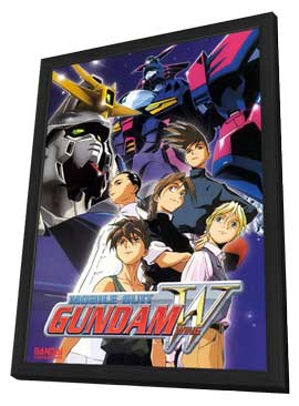 New Mobile Report Gundam W (TV) - 11 x 17 TV Poster - Style C - in Deluxe Wood Frame