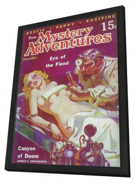 New Mystery Adventures (Pulp) - 11 x 17 Pulp Poster - Style A - in Deluxe Wood Frame