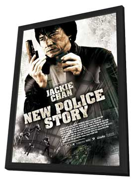 New Police Story - 11 x 17 Movie Poster - Style A - in Deluxe Wood Frame