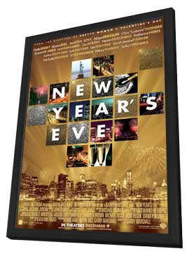 New Year's Eve - 11 x 17 Movie Poster - Style A - in Deluxe Wood Frame