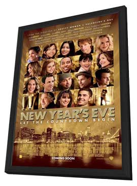 New Year's Eve - 11 x 17 Movie Poster - UK Style A - in Deluxe Wood Frame