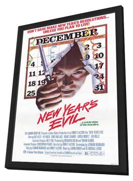New Years Evil - 11 x 17 Movie Poster - Style A - in Deluxe Wood Frame