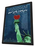 New York, I Love You - 11 x 17 Movie Poster - Style A - in Deluxe Wood Frame