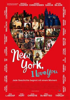 New York, I Love You - 27 x 40 Movie Poster - German Style A