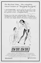 New York, New York - 27 x 40 Movie Poster - Style C