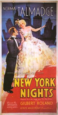 New York Nights - 27 x 40 Movie Poster - Style B