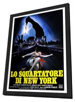 New York Ripper - 11 x 17 Movie Poster - Italian Style A - in Deluxe Wood Frame