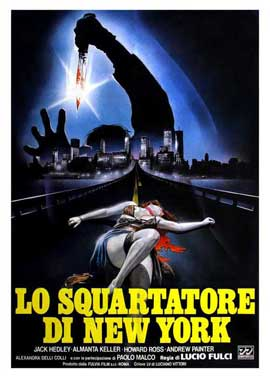 New York Ripper - 27 x 40 Movie Poster - Italian Style A