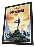 Newsies - 27 x 40 Movie Poster - Style A - in Deluxe Wood Frame