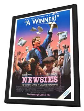 Newsies - 27 x 40 Movie Poster - Style B - in Deluxe Wood Frame