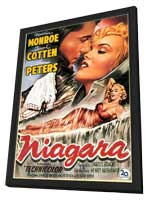 Niagara - 27 x 40 Movie Poster - Belgian Style A - in Deluxe Wood Frame
