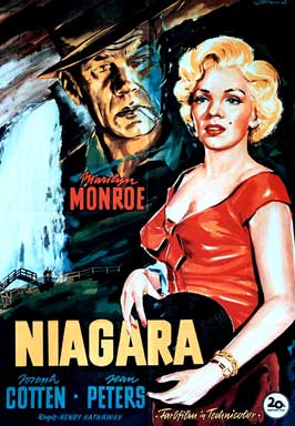 Niagara - 27 x 40 Movie Poster - German Style A