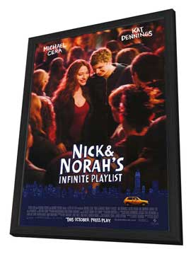 Nick and Norah's Infinite Playlist - 27 x 40 Movie Poster - Style A - in Deluxe Wood Frame