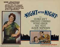 Night After Night - 11 x 14 Movie Poster - Style D