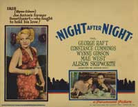 Night After Night - 11 x 14 Movie Poster - Style F