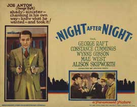 Night After Night - 11 x 14 Movie Poster - Style G