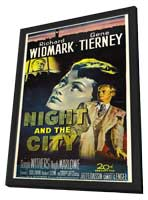 Night and the City - 27 x 40 Movie Poster - Style B - in Deluxe Wood Frame
